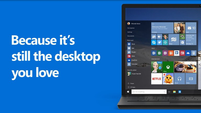 Return of the start menu Love Windows 10