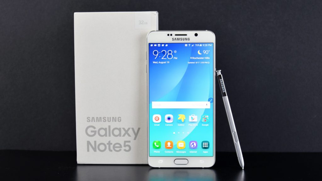 Note 5 - Top 10 Marshmallow Phones 2016